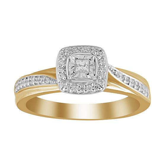 Womens 1 5 Ct Tw Genuine White Diamond 10k Gold Promise Ring