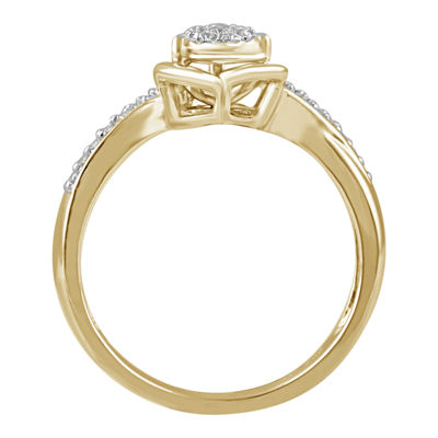 Womens 1/10 CT. T.W. White Diamond 10K Gold Promise Ring