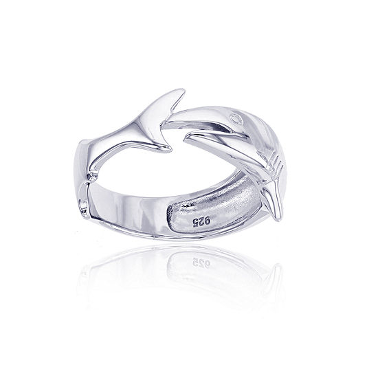 Womens 5mm Sterling Silver Band