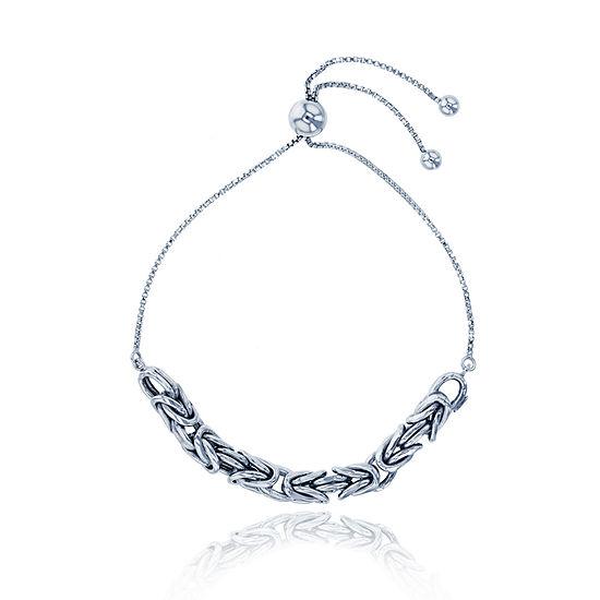 Sterling Silver 9 1/2 Inch Hollow Box Link Bracelet