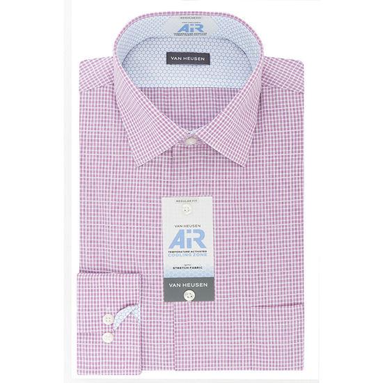 Van Heusen Air Mens Spread Collar Long Sleeve Stretch Dress Shirt