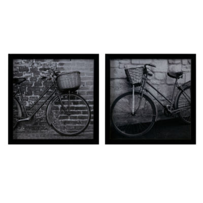 Madison Park Two Bicycles Framed Graphic 2 Piece Set