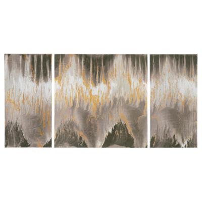 INK+IVY Relevance Gel Coat Canvas with Gold Foil Embellishment 3 Piece Set