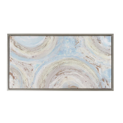 Madison Park Circle Dance Hand Embellished SilverFrame Canvas Art