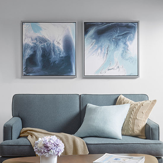 Madison Park Lagoon 2 Gel Coat 2-pc. Framed Canvas