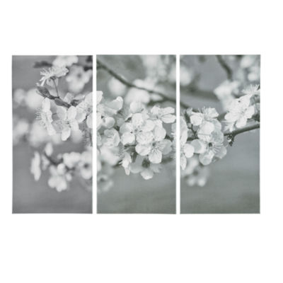 Madison Park Branches in Bloom Gel Coat Canvas 3 Piece Set