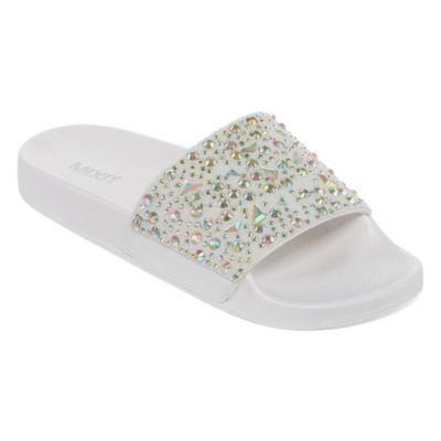 Mixit Womens Gem Pool Slide Sandals
