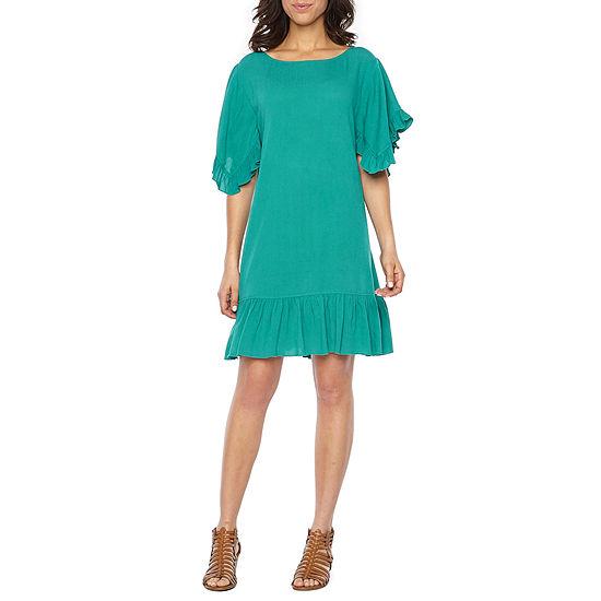 Vivi By Violet Weekend Short Sleeve Shift Dress