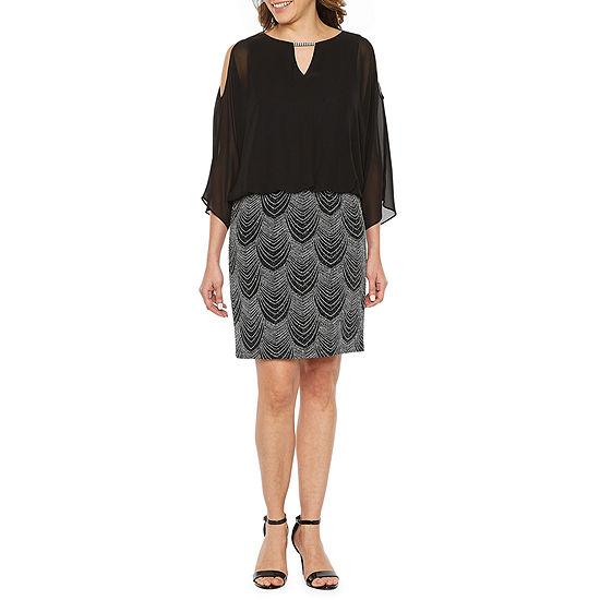 Scarlett 3/4 Sleeve Blouson Dress