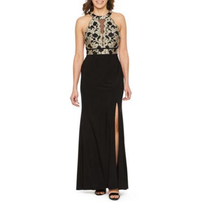 R & M Richards Sleeveless Evening Gown