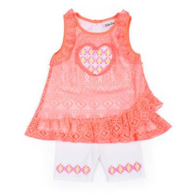 Little Lass Lace Tank Legging Set-Preschool Girls