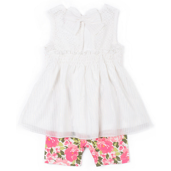 Little Lass Chiffon Tank & Floral Legging Set-Preschool Girls