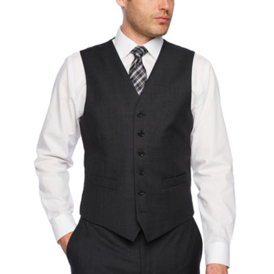 Stafford Executive Super100 Charcoal Grid Classic Fit Suit Vest