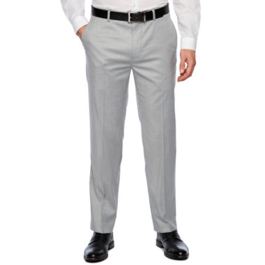 JF J.Ferrar Stretch Light Gray Slim Fit Suit Pants