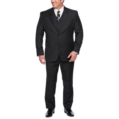Stafford Super 100s Charcaol Grid Big and Tall Suit Separates