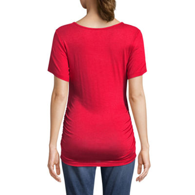"Planet Motherhood Short Sleeve Scoop Neck ""Currently Craving"" Graphic Tee - Maternity"
