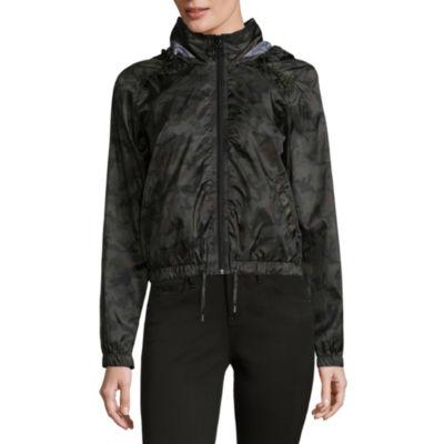 Rewind Hooded Lightweight Camouflage Softshell Jacket-Juniors