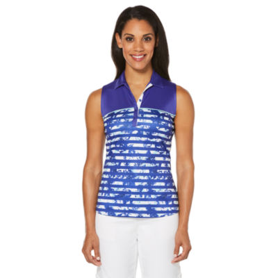 PGA TOUR Easy Care Sleeveless Floral Polo Shirt