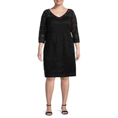 Bold Elements Textured Lace Dress - Plus