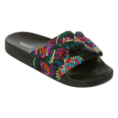 Mixit Brocade Pool Womens Slide Sandals