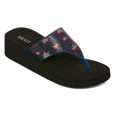 Mixit Wedge Flip-Flops