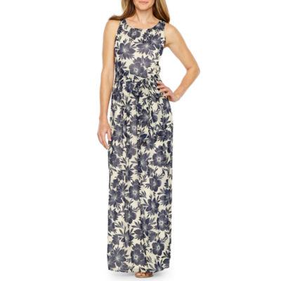 Jessica Howard Sleeveless Floral Maxi Dress