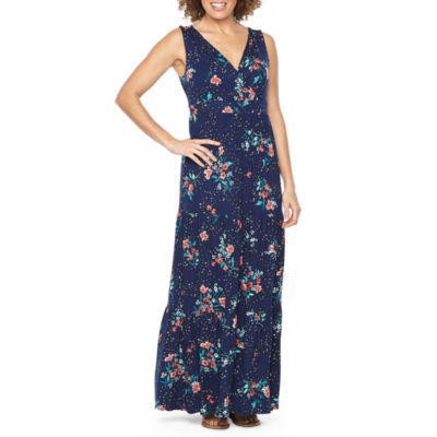 St. John's Bay Sleeveless Floral Maxi Dress