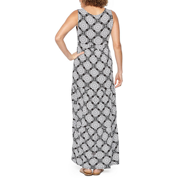 St. John's Bay Sleeveless Medallion Maxi Dress