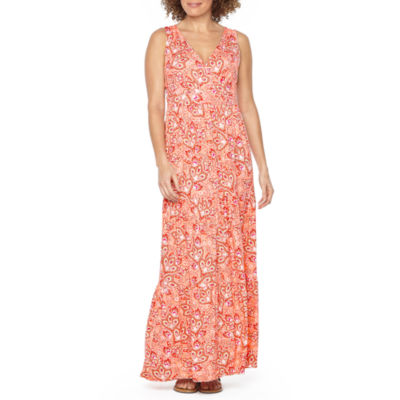 St. John's Bay Sleeveless Paisley Maxi Dress