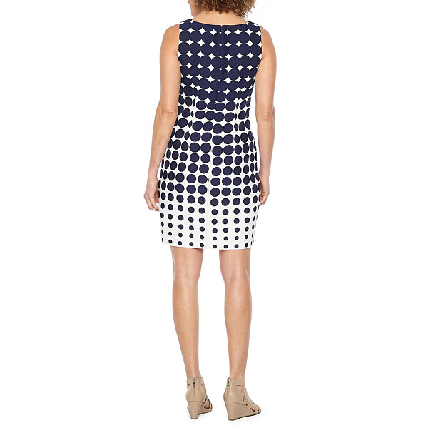 R & K Originals Sleeveless Ombre Dot Sheath Dress