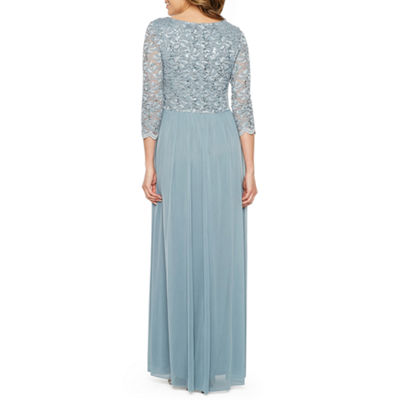 Jump Apparel 3/4 Sleeve Evening Gown