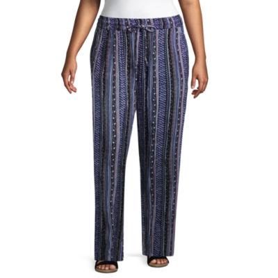 Drawstring Woven Printed Pant-Plus