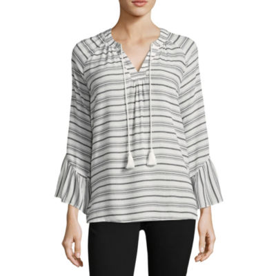 a.n.a Bell Sleeve Peasant Top - Talls