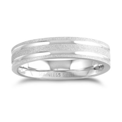 Mens 3mm Stainless Steel Wedding Band