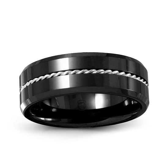 Mens 6mm Ceramic Wedding Band