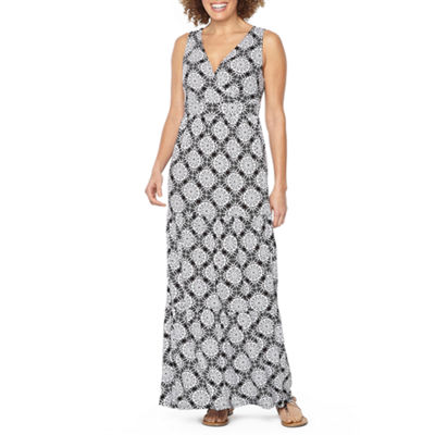 St. John's Bay Tiered Maxi Dress - Tall