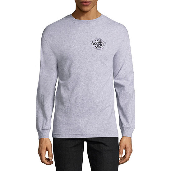 Vans Mens Crew Neck Long Sleeve Logo Graphic T-Shirt