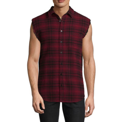 Decree Sleeveless Plaid Button-Front Shirt