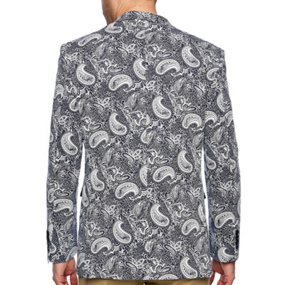 Us Polo Assn. Slim Fit Woven Paisley Sport Coat