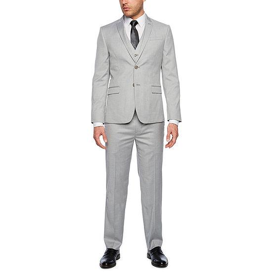 6c22a8cc8197 JF J.Ferrar Light Gray Tic Slim Fit Suit Separates - JCPenney