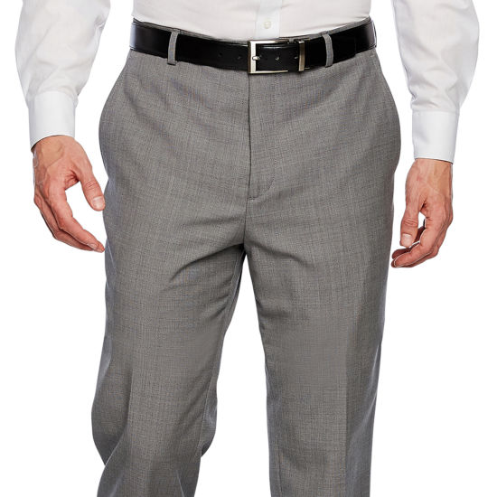 Stafford Executive Classic Fit Flat Front Pants