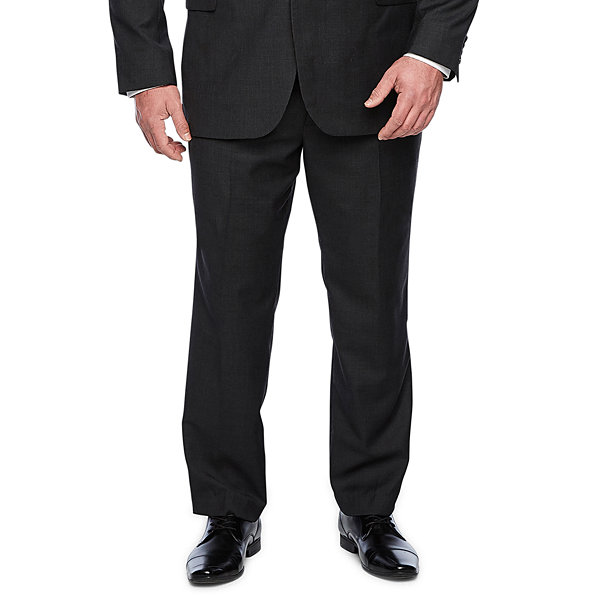 Stafford Executive Super100 Charcoal Grid Classic Fit Suit Jacket - Big & Tall