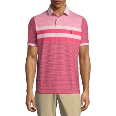 U.S. Polo Assn. Embroidered Short Sleeve Stripe Polo Shirt