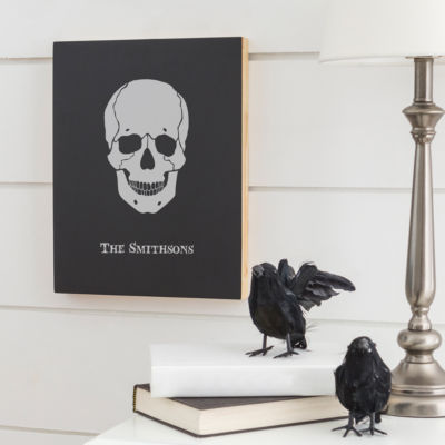 Cathy's Concepts Personalized Skull Chalk Board