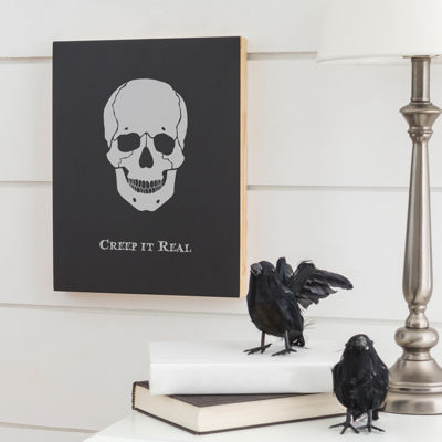 Cathy's Concepts 'Creap It Real' Skull Chalk Board