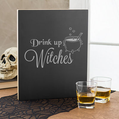 Cathy's Concepts 'Drink Up Witches' Chalk Board