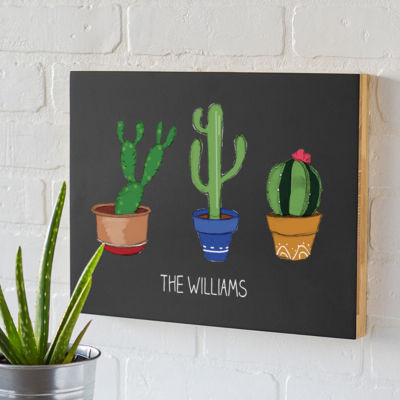 Cathy's Concepts Personalized Cactus Chalk Board
