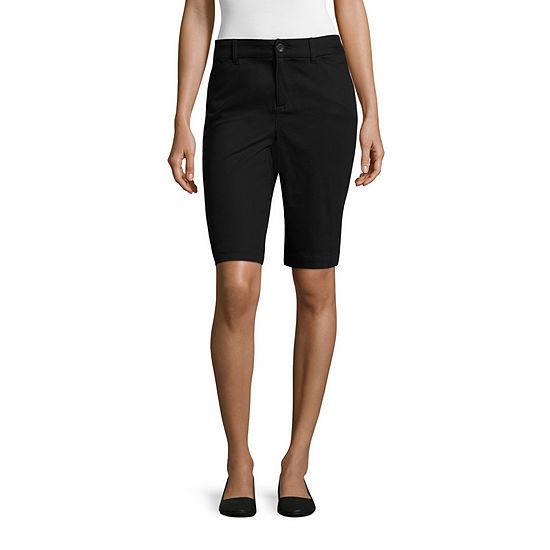 "St. John's Bay® Secretly Slender 11"" Twill Bermuda Shorts"