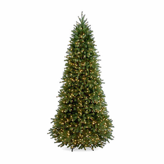 National Tree Co. 9 Foot Jersey Fraser Fir Slim Fir Pre-Lit Christmas Tree