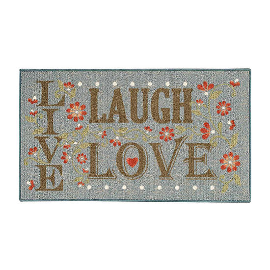 Live Love Laugh Rectangular Rug